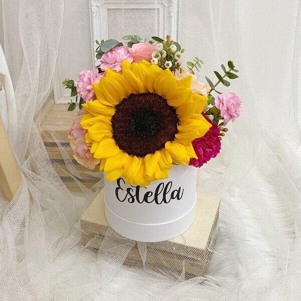 Ronde Cheery Sunflower Bloom Box