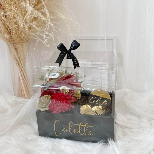 Floral Gift Box With Coaster & Heart Tray - 1
