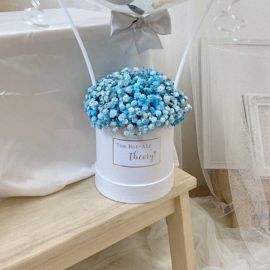 Blue Baby Breaths Hot Air Balloon - close up