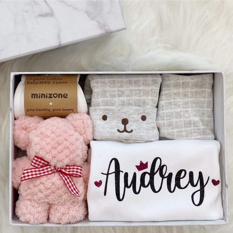 Newborn gift box - girl close up