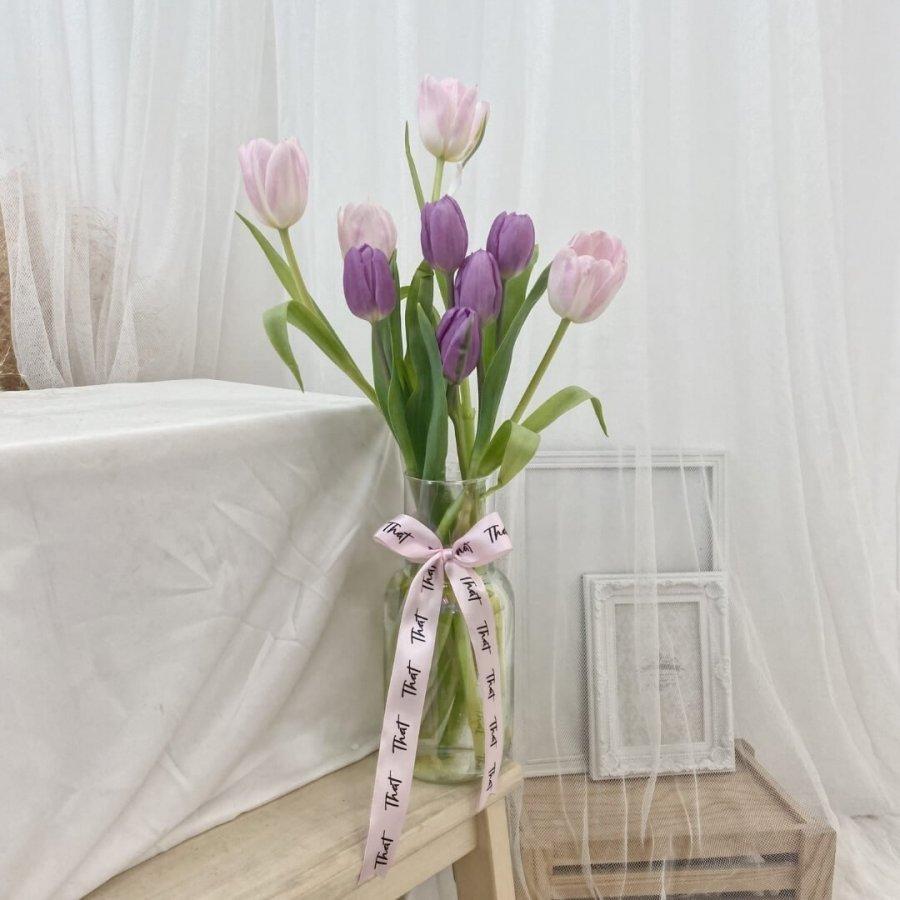 Lilac & Pink Tulip Fleur Jar