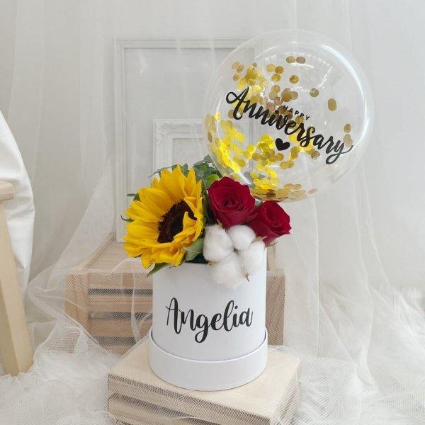 Ronde Sunny Sunflower Bloom Box