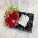 Floral Gift Box With White Marble Cup