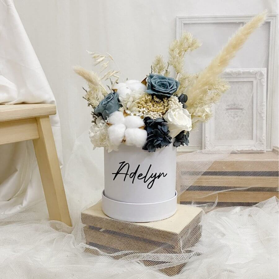 Timeless Grey Bloom Box