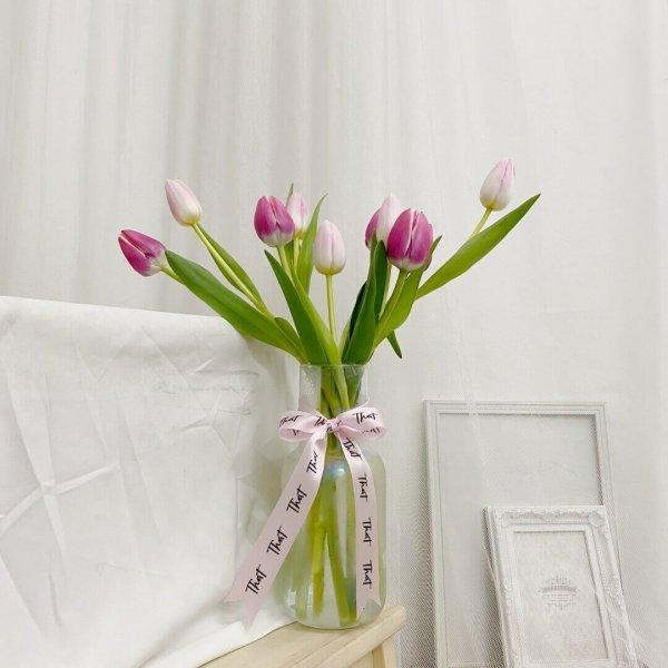 Cherry & Pink Tulip Fleur Jar